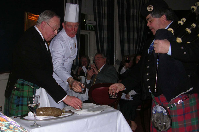 The Dublin Scottish Benevolent Society of St. Andrew celebrating Burns Night